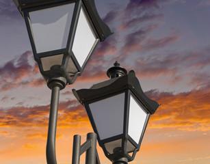 street lantern  on background sky