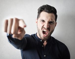 Angry guy shouting