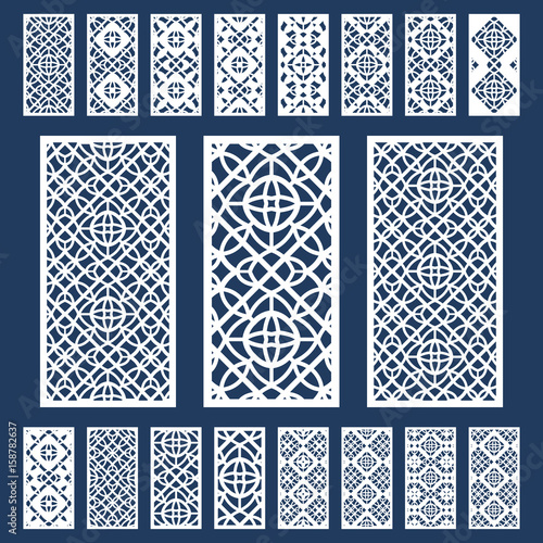 Ornamental Panels Template Set For Cutting Exterior Silhouette