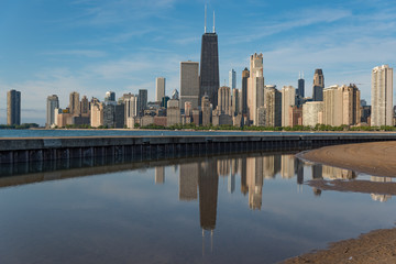 Wall Mural - Chicago view from North Avenue beach