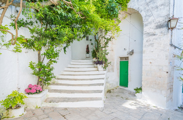 Scenic view in Ostuni, city located about 8 km from the coast, in the province of Brindisi, region...