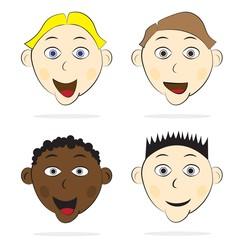 Set of children's faces