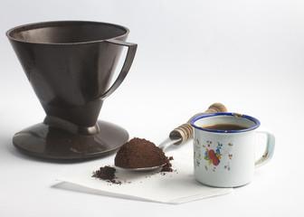 Poor brazilian farm coffee set