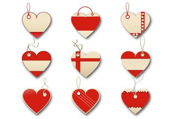 Nine Heart-Shaped Gift Tag Layouts