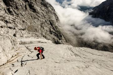 Mountaineer On Climbing On Mountains