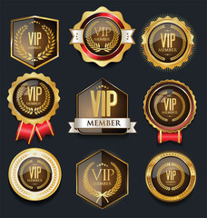 VIP golden label collection