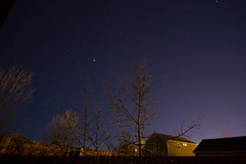 Jupiter in the Night Sky