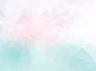 Polygonal pink blue pattern