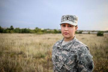 Female in Army Uniform