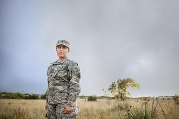 Female in Army Uniform