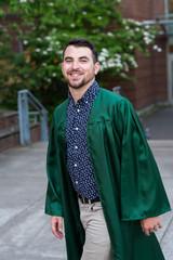 College Grad on Campus in Oregon