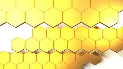 Gold background abstract 3D Rendering image