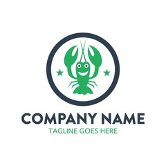 Unique Lobster Logo Template