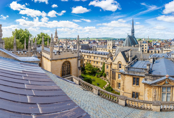 Panorama of the center of Oxford, UK