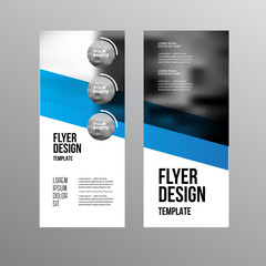 Business Brochure design. Annual report vector illustration template. Flyer corporate cover. Business presentation with photo and geometric graphic elements.