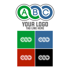 ABC, logo, simple and strong logo isolated