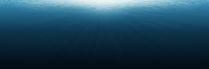 horizontal empty underwater for background and design