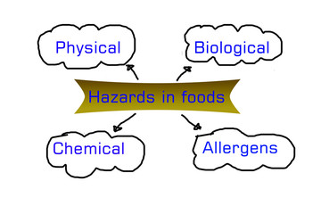 types of hazards that can be found in food products