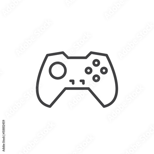 Gamepad Line Icon Outline Vector Sign Linear Style Pictogram