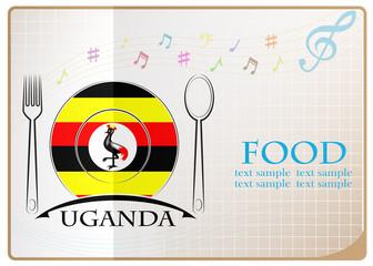 Food logo made from the flag of Uganda