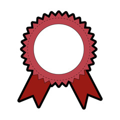Award ribbon banner icon vector illustration graphic design