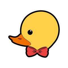 ducky toy cartoon icon vector illustration graphic design