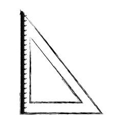 squad ruler icon over white background vector illustration