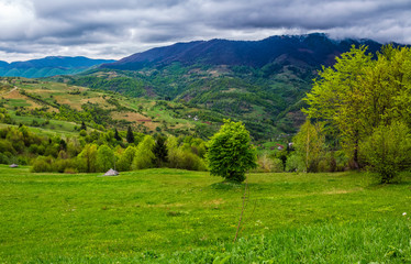 rural area in Carpathian valley
