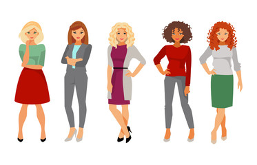 Collection women in office clothes