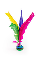 feather shuttlecock isolated