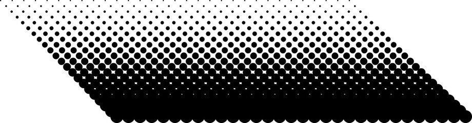 Halftone pattern. Background with dots, circles. Black and white vector illustration