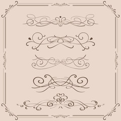 Decorative ornaments, text dividers