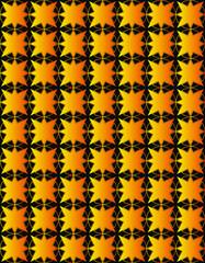 arabic gold star pattern