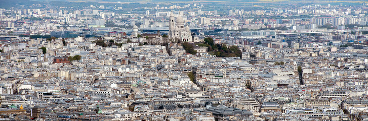 paris montmatre city view aerial landscape from tower