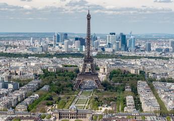 Paris Eiffel tower and city view aerial landscape