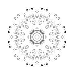 Colorful mandala on the white background