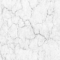 Soil cracks texture white background for design.
