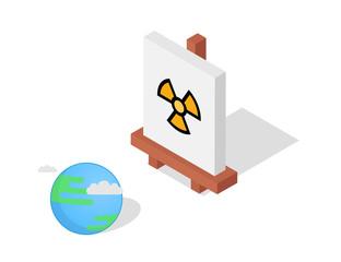 Easel vector illustration