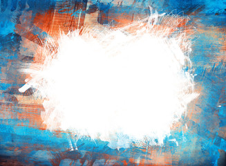 Abstract painted stylized background