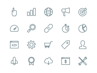 SEO set of vector icons