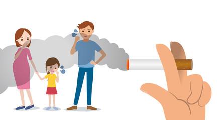 passive smoking concept, second-hand smoking, involuntary smoking