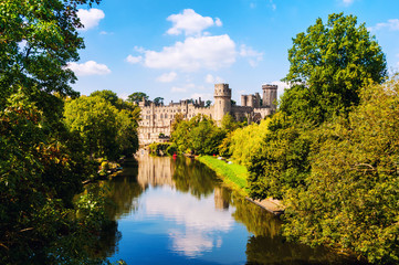 Keuken foto achterwand Kasteel Warwick, UK. Castle of Warwick with river