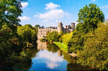 Fotorolgordijn Kasteel Warwick, UK. Castle of Warwick with river