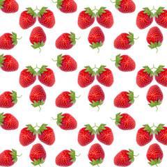 pattern ripe fresh red strawberries