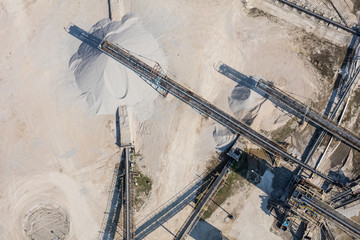 aerial view of the sand and stone processing plant
