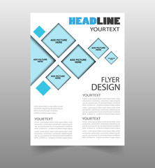 Business annual report brochure flyer design template. Can be use for publishing, print and presentation. Vector. Eps 10