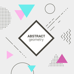 Minimalistic template design on stylish geometric background.