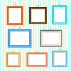 Retro picture image cartoon frames vector set