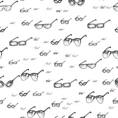 Seamless pattern with sunglasses
