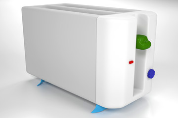 Simple white toaster